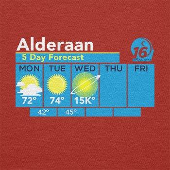 Texlab–Alderaan Weather Fore Cast–sacchetto di stoffa Rot