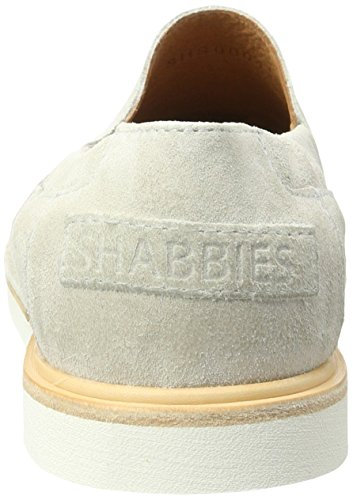 Shabbies Amsterdam Slipper Velourleder, Mocassins Femme Weiß (Off White)