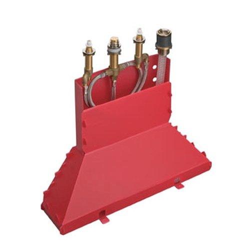 Preisvergleich Produktbild Hansgrohe 13444180 Grundkörper für 4 Loch Wannenrandarmatur mit Secuflex