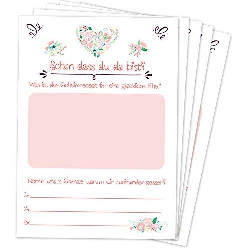 Hochzeitspiel: 52 Postkarten mit spannenden Fragen für Gäste und das Brautpaar