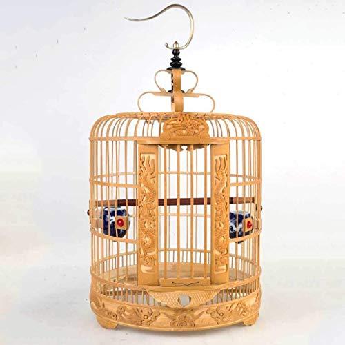 XWYGW Haustierbett Bambus Vogel Kultur Cage, Klassik-Upgrade Hanging Flight Cage Indoor-Vogelkäfig Can Hang, Geeignet for Parrot/Vogel -