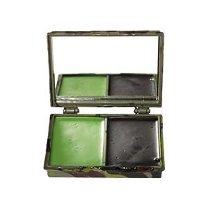 Set CrÈme De Camouflage Noir Et Vert Avec Miroir