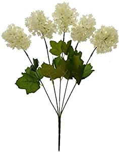 Fourwalls Artificial Fabric Hydrangea Flower Bouquet (45 cm, White)