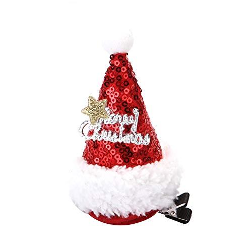 Da.Wa 1 Stücke Baby Haarspangen Weihnachtsmütze Haarschmuck für Täglicher Gebrauch