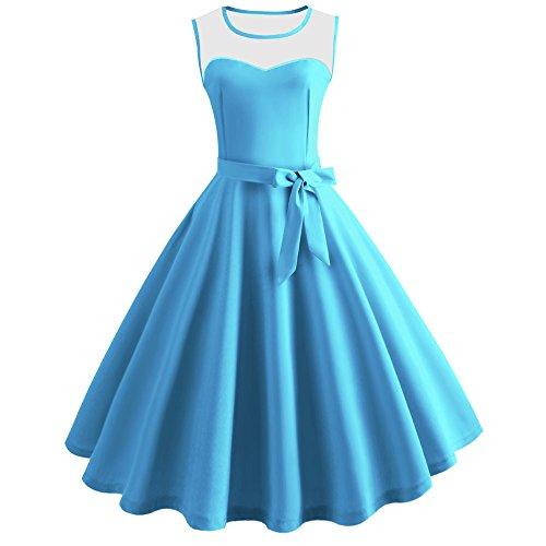 Tüllröcke Petticoat Kurze Damenrock Tutu Rock Ballet Unterkleid Unterrock Damen Knielange Asymmetrischer Gummibund Ausgestellter Zipfel Tüll Rock /X5-Blue,2XL