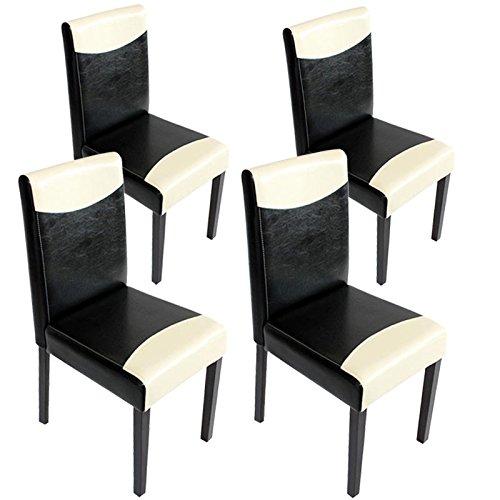Set 4x sedie littau ecopelle per sala da pranzo 43x56x90cm for Sedie da sala pranzo