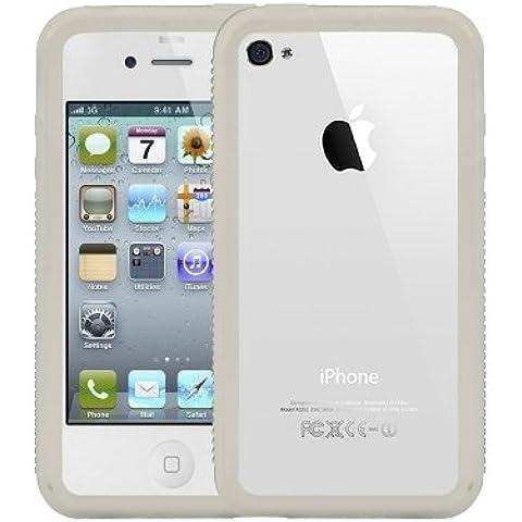 Logotrans Burl Series - Funda de silicona para iPhone 4, color blanco