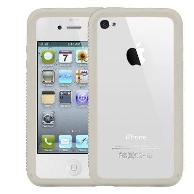 Logotrans Burl Series Silikon Tasche für Apple iPhone 4 rot Weiß