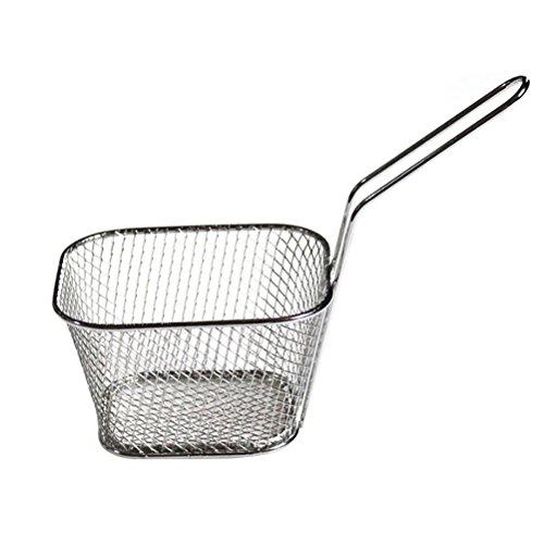VORCOOL Mini Frying Basket Edelstahl Sieb Vorhanden Fried Food Colander für Kartoffeln Chips Deep Colander