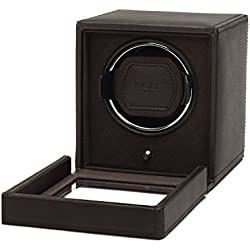 Wolf Cub Single Brown Leather Watch Winder with Cover