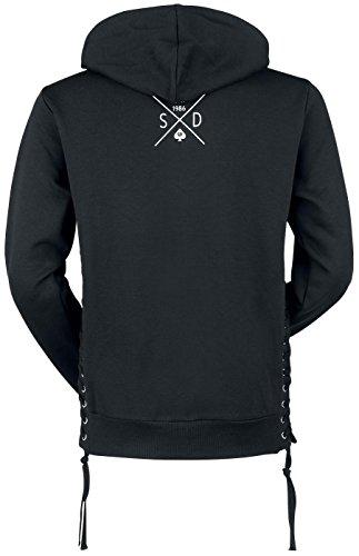 Seek & Destroy Numazi Sweat à capuche zippé noir Noir