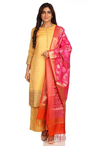 BIBA Women's Straight Salwar Suit (SKD5229_DEEP BEG_46)