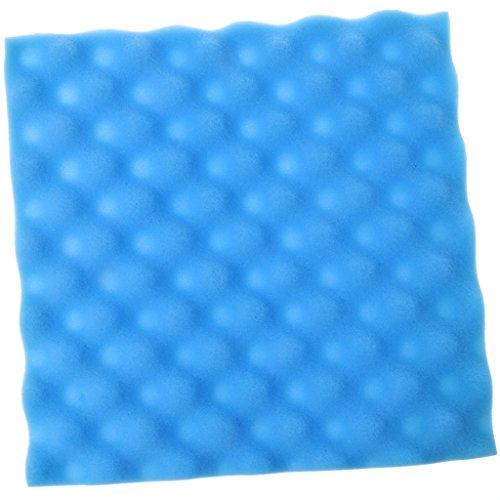 ECMQS 300×300×20mm 1 Stücke Trommel Zimmer Schalldichten Schaum Schallabsorption Behandlung Panel Fliesen Keil Schutzmaßnahmen Weichen Schwamm Für Studio Und KTV (Blau)