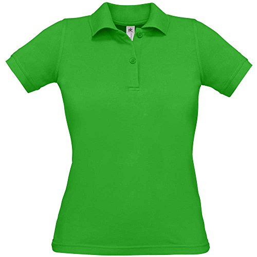 B&C Collection Womens Safran Pure Polo Shirts Real Green