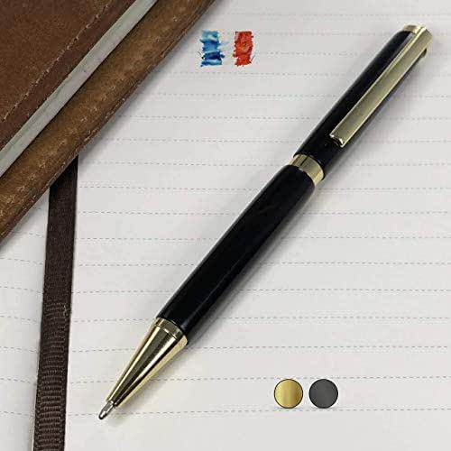 Penna in legno di Ebano, prodotta artigianalmente in Francia. Confezione regalo inclusa.