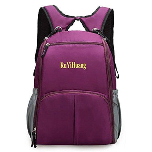 Preisvergleich Produktbild Bonamana Multifunktions-Windel-Tasche Baby-Rucksack Reise-Windel-wasserdichte Taschen-Tasche für Mamma oder Vati (Lila)
