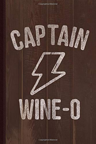 Captain Wine-o Journal Notebook: Blank Lined Ruled For Writing 6x9 120 Pages
