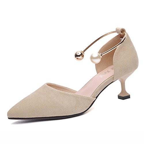 Chaussures femme HWF Hauts Talons Femmes Printemps Pointu Peu Profondes Chaussures de Bouche