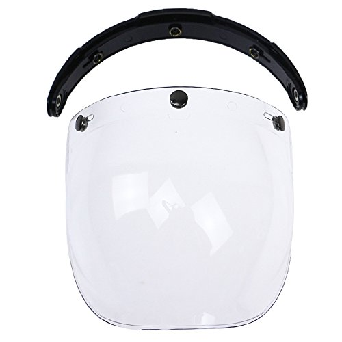 KKmoon 3-snap Bulle Wind Shield Visière Casque de Moto