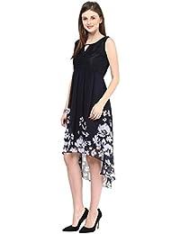 Taurus Women's Blue High Low Floral Dress