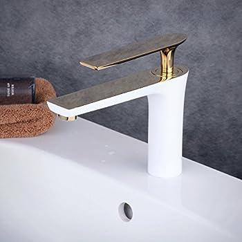 beelee wei gold wasserhahn bad armatur waschtischarmatur waschbeckenarmatur einhebelmischer. Black Bedroom Furniture Sets. Home Design Ideas