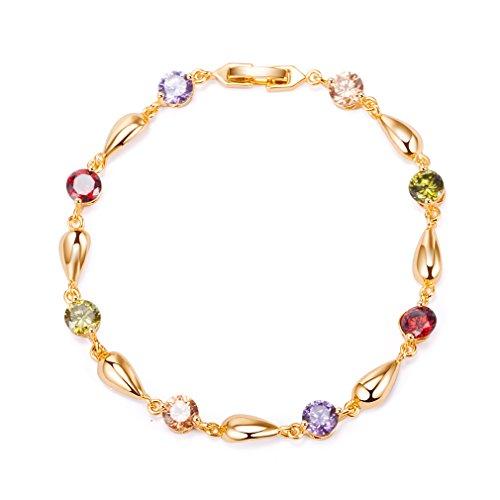 YAZILIND vergoldet armband mode wassertropfen hübsche zirkon für frauen (farbe)