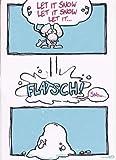 Witzige Weihnachtskarte 'Let it Snow...' Din A6