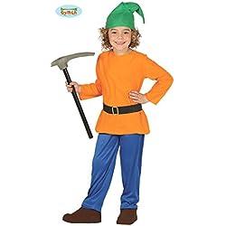 Guirca Costume nano sette nani Biancaneve gnomo carnevale bambino 8186_ 7-9 anni