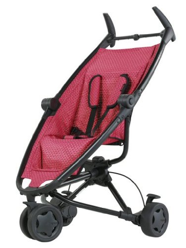Quinny 65602930 - Zapp Twine, schwarzes Gestell und geflochtener Sitzeinhang, inklusive Sonnendach, Regenverdeck, Reisetasche und Adapter für die Maxi-Cosi Babyschale, pink