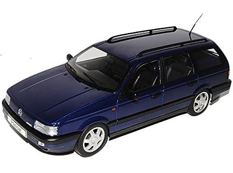 VW Volkswagen Passat B3 VR6 Variant Dunkel Blau 1988-1993 1/18 KK-Scale Modell Auto mit individiuellem Wunschkennzeichen