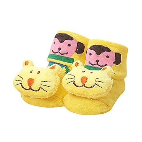 Baby Socken Transer® Unisex Mädchen/Jungen Kleinkind Neugeborene Kinder Karikatur Tiger Katzen Affen Socken für 0-12 Monate (Gestreifte Verbandsmull)