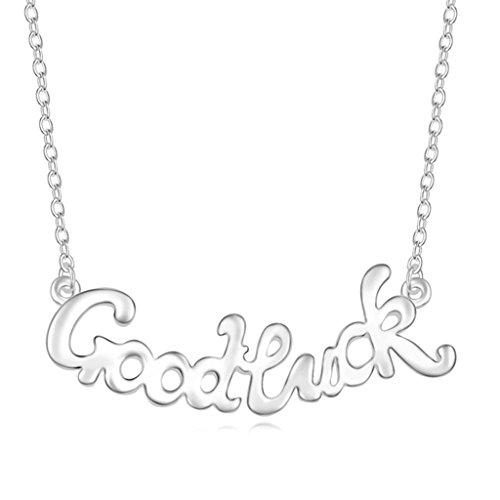 Daesar Schmuck Damenkette Vergoldet Viel Glück Synthetische Kristall Halskette Zirkonia Halskette Anhänger