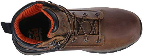 Timberland PRO Men s Hypercharge 6  Soft Toe Waterproof Industrial Boot  Brown Full Grain Leather  9 W US