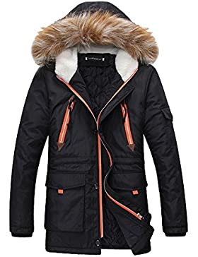 Hombres Jacket Invierno Chaqueta Con Capucha Prácticos Bolsillos Abrigo