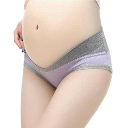 Hykis New Baumwolle Schwangere Frauen-Unterw?sche-U-Shaped Low Waist Mutterschaft Unterw?sche Schwangerschaft Briefs Mutterschaft Panties Frauk [Lila M]