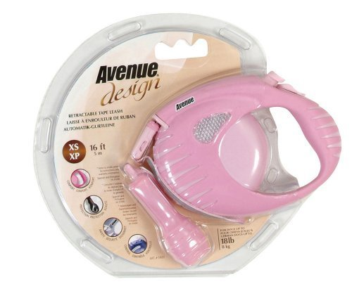 Avenue Design Retractable Tape Leash for Dogs, Pink, X-Small, 10 Feet by Avenue -