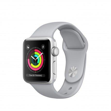 Apple Watch Series 3 OLED GPS (satélite) Plata Reloj Inteligente - Relojes Inteligentes (OLED, Pantalla táctil, GPS (satélite), 18 h, 26,7 g, Plata)