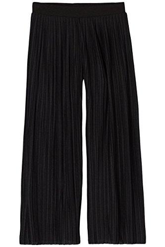 FIND Culottes Damen mit verkürztem und weitem Bein, Plissee-Falten und elastischem Bund, Schwarz (Black), 42 (Herstellergröße: X-Large) - 4