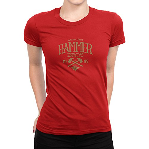 Planet Nerd - Hammer Bros - Damen T-Shirt Rot