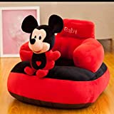 Homescape Baby Soft Plush Cushion Baby Sofa Seat Or Rocking Chair for Kids(Use for Baby 0 to 3 Years)-Red and Black(Top Quality)
