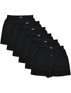 MioRalini 6 Herren Boxershorts in klassischen Farben 100% Baumwolle ohne Seitennaht Seamless Grösse 5 -10