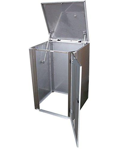 Mülltonnenbox Edelstahl, Modell Eleganza Line5, 120 Liter als Viererbox - 2