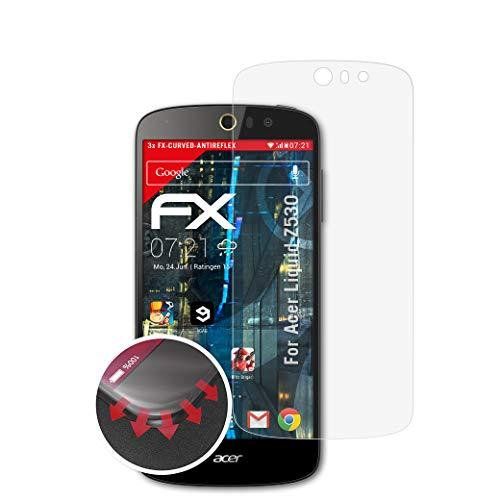 atFolix Schutzfolie passend für Acer Liquid Z530 Folie, entspiegelnde & Flexible FX Bildschirmschutzfolie (3X)