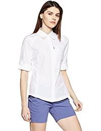 Columbia Silver Ridge Long Sleeve Shirt Camiseta de manga larga para senderismo, Mujer, Blanco