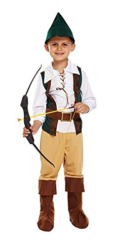 Henbrandt Boys Robin Hood Style Costume Large by Henbrandt (Baby Legolas Kostüm)