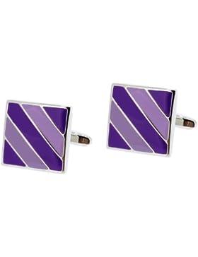 Cufflinks International Manschettenknöpfe Emaille Violett