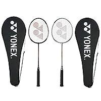 Yonex GR 303 Aluminum Blend Badminton Racquet with Full Cover, Set of 2 (Silver/Black)