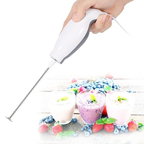 Ergonomischer Mini Stabmixer mit Edelstahl Mixfuß für Babynahrung Milchshake Sahne Saft Suppe, 15W (Mini-stabmixer)