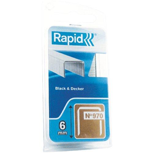 Agrafe n°970 Rapid Agraf - Hauteur 6 mm - 1340 agrafes