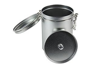 mikken Boîte à café Expresso Boîte Boîte à thé pour 250g avec Aroma Couvercle # 54741# supplémentaire en métal argenté 10x 14,5cm